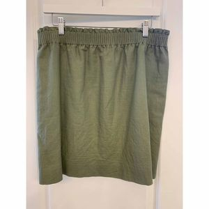 J.Crew military green sidewalk skirt with pockets